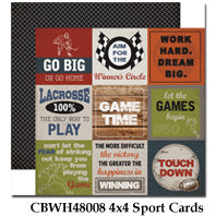 CARTA BELLA  12X12 PAPER WORK PLAY HARD 4X4SPORT CARDS