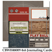 CARTA BELLA  12X12 PAPER WORK PLAY HARD JOURNALING CARD