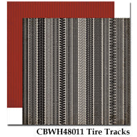 CARTA BELLA  12X12 PAPER WORK PLAY HARD TIRE TRACKS