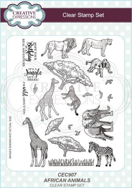 SUE WILSON STAMPS A5 AFRICAN ANIMALS