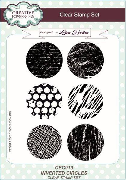 CREATIVE EXPRESSIONS  A5 CLEAT STAMP INVERTED CIRCLE