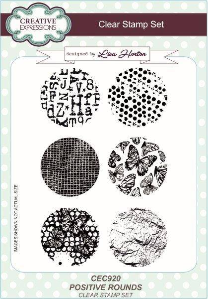CREATIVE EXPRESSIONS  A5 CLEAT STAMP POSITION ROUNDS