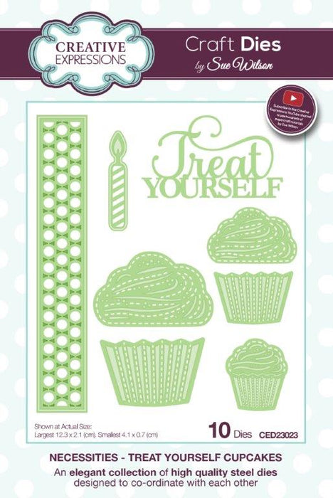 SUE WILSON DIES NECESSITIES  COLL TREAT YOURSELF CUP CAKE