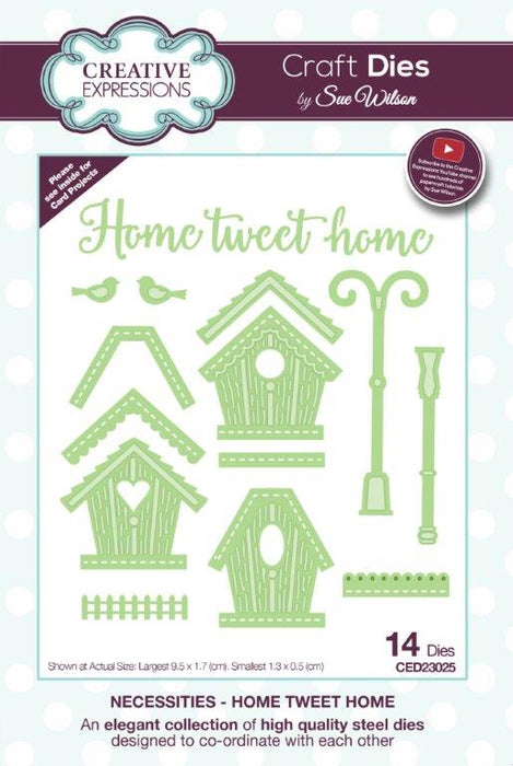 SUE WILSON DIES NECESSITIES  COLLECTION  HOME TWEET HOME