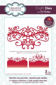 SUE WILSON FESTIVE COLLECTION SNOWFLAKES GEMINI