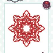 SUE WILSON FESTIVE COLLECTION  SCALLOPED SNOWFLAKE FRAME