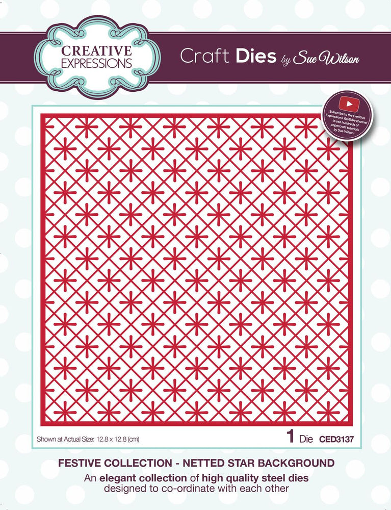 SUE WILSON  FESTIVE  COLLECTION NETTED STAR  BACKGROUND