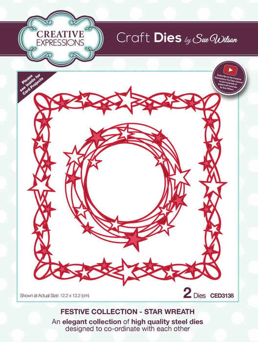 SUE WILSON  FESTIVE  COLLECTION  STAR  WREATH