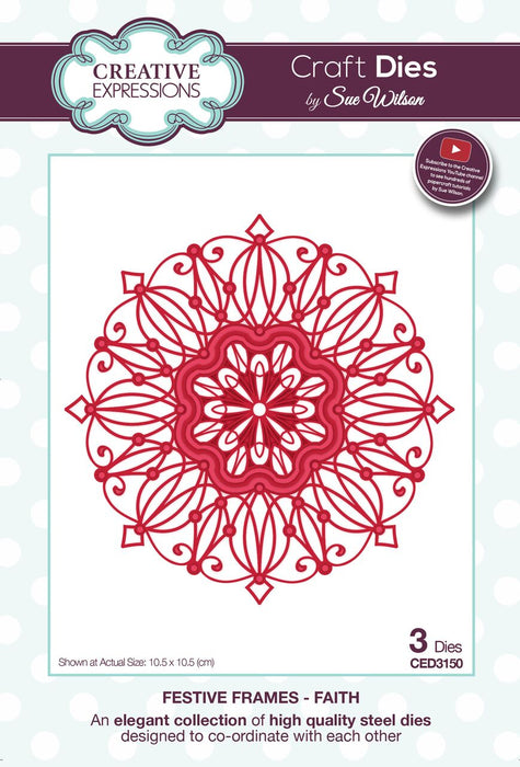 SUE WILSON  FESTIVE  COLLECTION FAITH