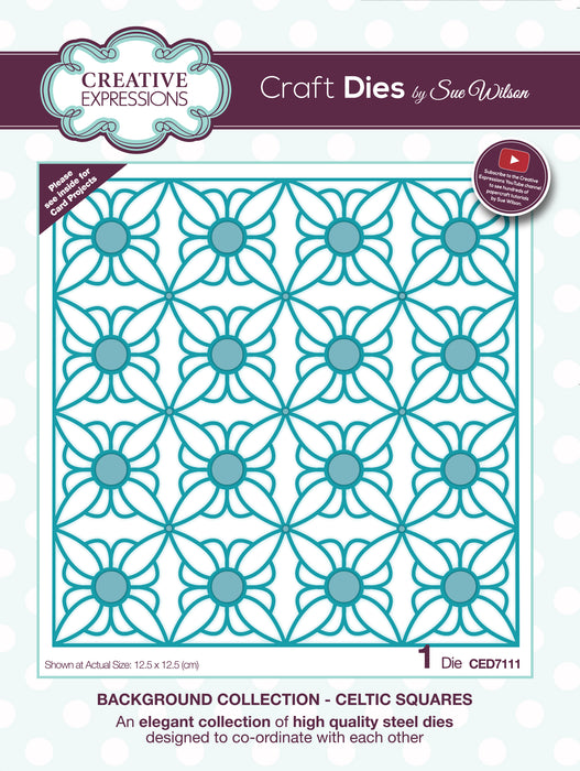 Creative Expressions Craft Dies By Sue Wilson-Background Collection-Celtic Squar