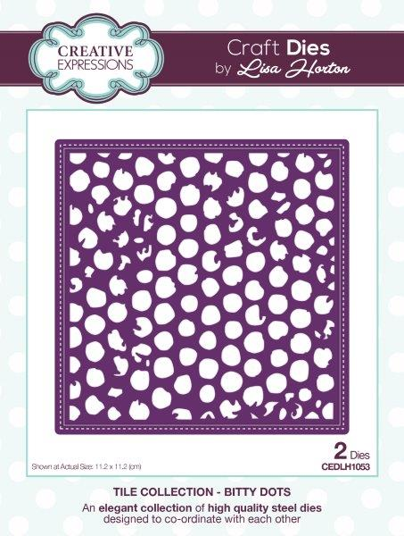 LISA HORTON DIES  TILE COLLECTION BITTY DOTS