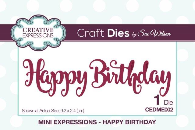 SUE WILSON DIES MINI EXPRESSION COLL HAPPY BIRTHDAY