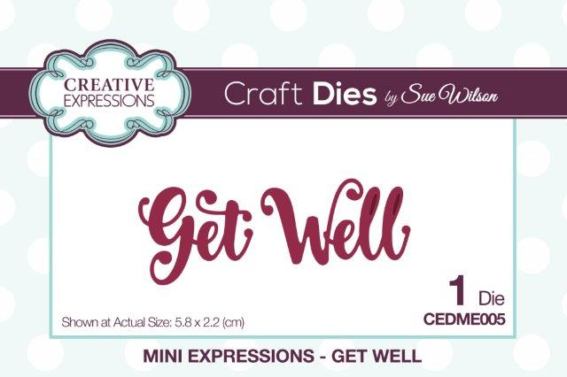 SUE WILSON DIES MINI EXPRESSION COLL GET WELL