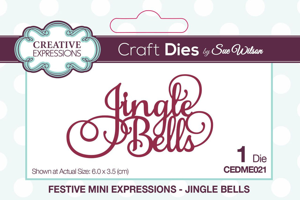 SUE WILSON  FESTIVE  COLLECTION  JINGLE BELLS