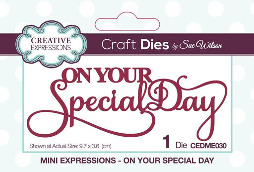 Mini Expressions Collection On Your Special Day