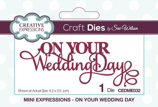Mini Expressions Collection On Your Wedding Day