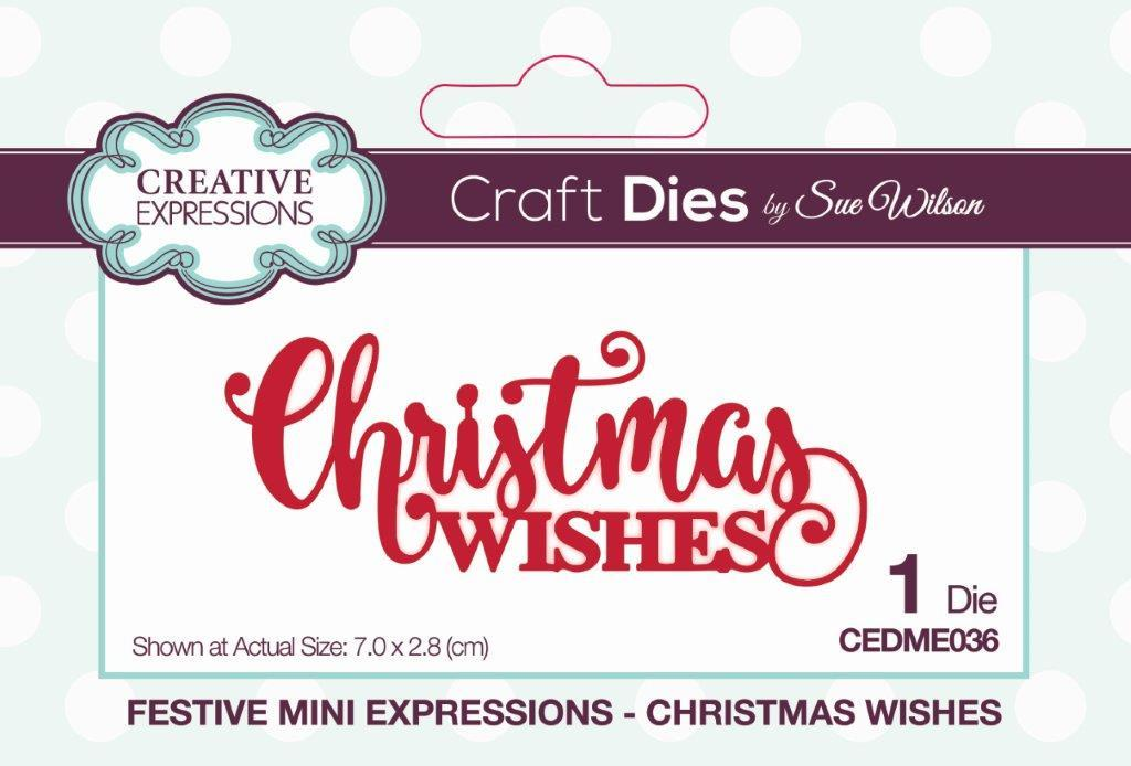Christmas Expressions.Festive Mini Expressions Christmas Wishes Craft Die