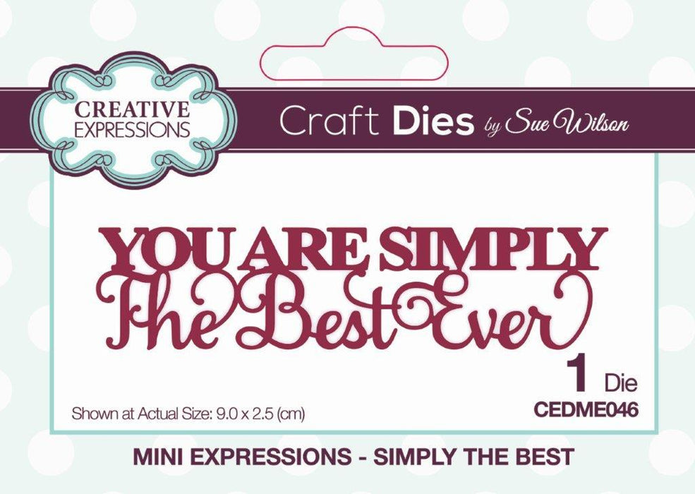 SUE WILSON DIE MINI EXPRESSION COLL SIMPLYTHE BEST
