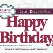 SUE WILSON DIE NOBL EXPRESSIONS COLL HAPPY BIRTHDAY CRAFT