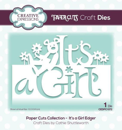 PAPER CUTS  DIES COLLECTION ITS A GIRL EDGER