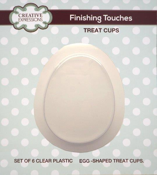 CREATIVE EXPRESSIONS FINISHING TOUCHES EGG SHAPED TREAT CUP