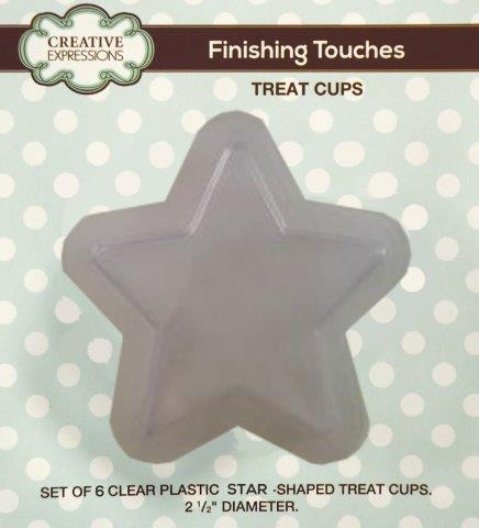 CREATIVE EXPRESSIONS FINISHING TOUCHES TREAT CUP STAR SHAPE