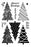 IMPRESSION OBSESSION  CLEAR STAMP XMAS TREE