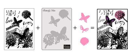 COUTURE CREATIONS DREAMBOAT COLLN 3IN1 BUTTERFLY