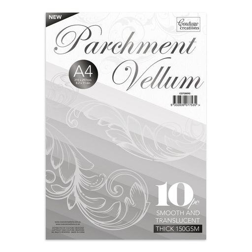 COUTURE CREATIONS A4 VELLUM 10 SHEETS  150GSM