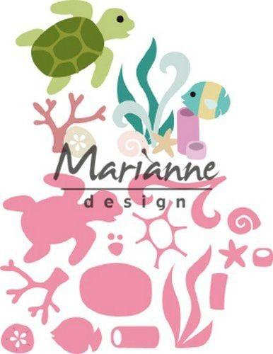 MARIANNE DESIGN  DIES  SEALIFE BY MARLEEN