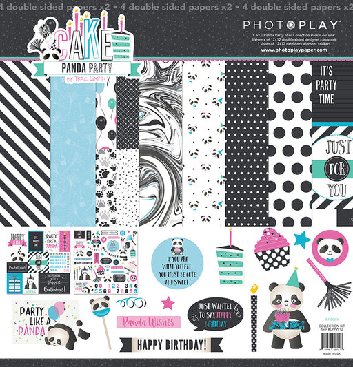PHOTOPLAY  12 X12 PAPER PACK  CAKE PANDA PARTY