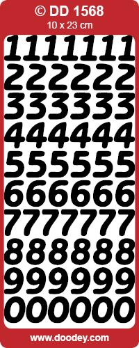 CRAFT STICKERS LARGE NUMBERS SILVER