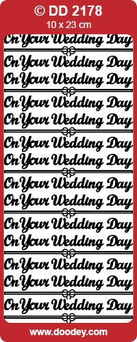 CRAFT STICKER ON YOUR WEDDING DAY SILVER