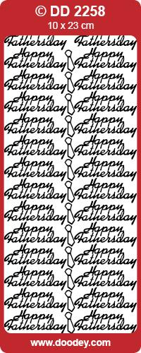 STICKER HAPPY FATHERS DAY GOLD