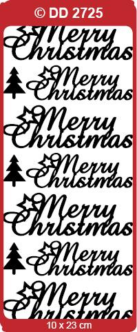 CRAFT STICKER MERRY CHRISTMAS BLACK