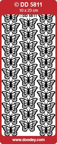 STICKER BUTTERFLIES SILVER