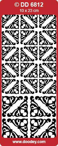 CRAFT STICKER  CORNERS 2 SIZE YVONNE SILVER
