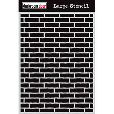 DARKROOM DOOR LARGE  STENCIL 9 X 12 INCH BRICK WALL