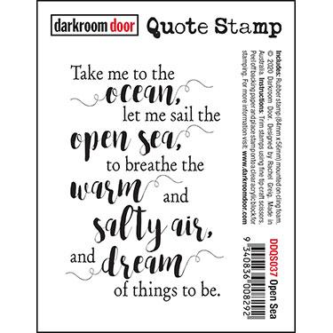 DARKROOM DOOR  QUOTE  STAMP OPEN SEA