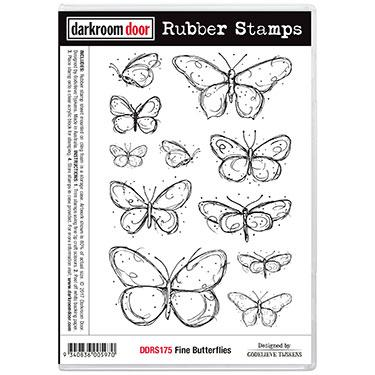 DARKROOM DOOR RUBBER STAMP FINE BUTTERFLIES