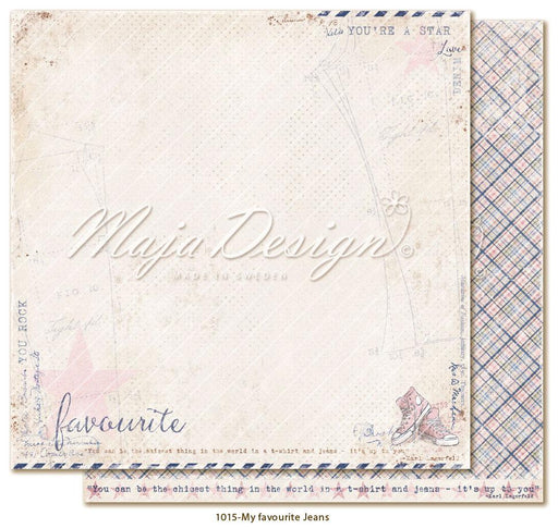 MAJA DESIGN 12 X12 PAPER  DENIM AND GIRLS  FAVOURITE JEANS