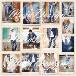 MAJA DESIGN 12X12 DENIM AND FRIENDS  SNAPSHOTS GUYS IN JEANS