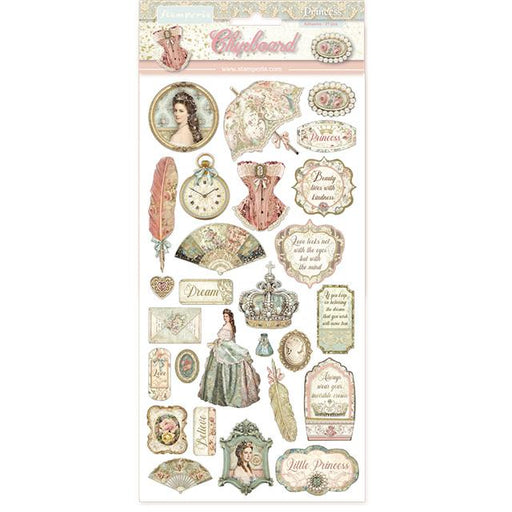 STAMPERIA   CHIPBOARD 15X 30 CM PRINCESS