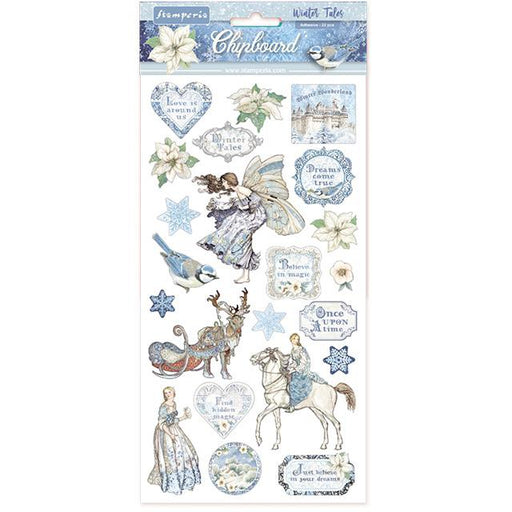 STAMPERIA   CHIPBOARD 15X 30 CM WINTER TALES