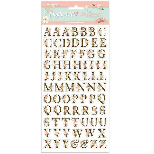 STAMPERIA   CHIPBOARD 15X 30 CM  STORY ALPHABET