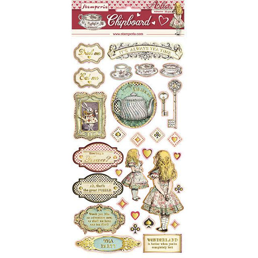 STAMPERIA   CHIPBOARD 15X 30 CM ALICE
