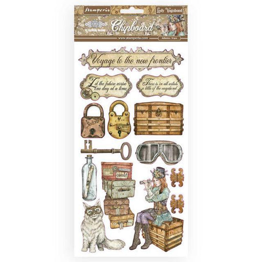 STAMPERIA   CHIPBOARD 15X 30 CM  LADY VAGABOND