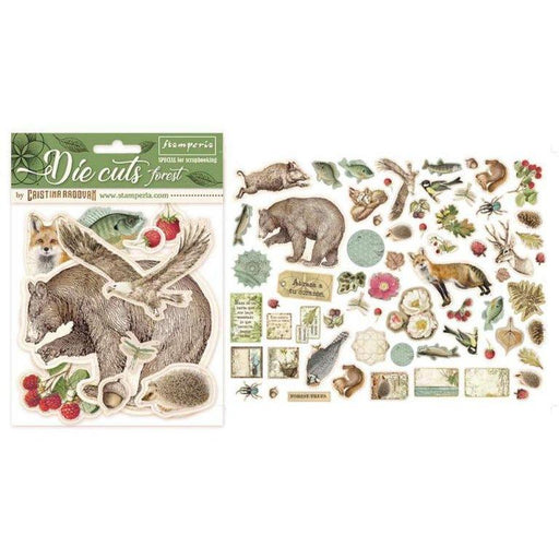 STAMPERIA   DIE CUTS ASSORTED FOREST