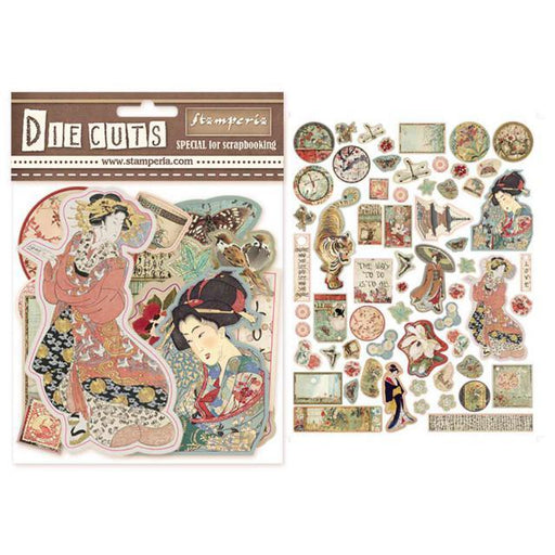 STAMPERIA   DIE CUTS ASSORTED  ORIENTAL GARDEN