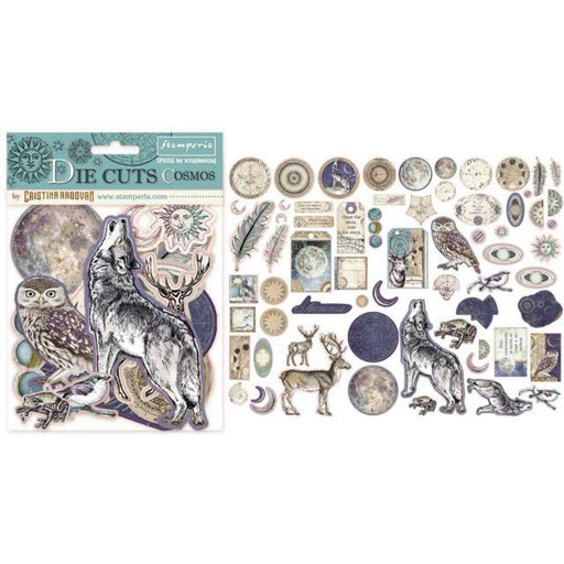 STAMPERIA   DIE CUTS ASSORTED COSMOS